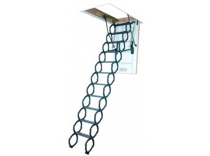 Чердачная лестница ножничная металлическая Fakro LST высота установки от 260 до 320см