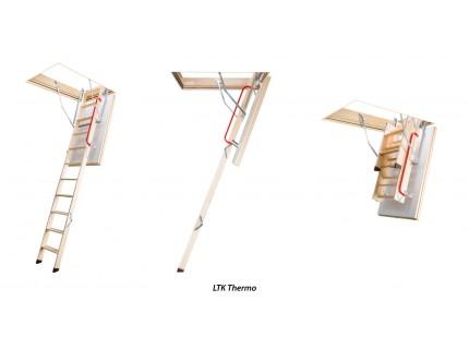 Деревянная чердачная термоизоляционная лестница  Fakro LTK высота установки до 280см