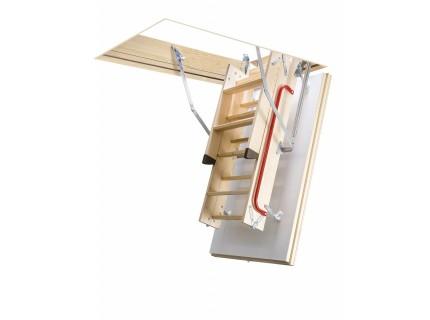 Деревянная чердачная термоизоляционная лестница  Fakro LTK Energy высота установки до 280см