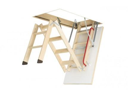 Деревянная чердачная лестница Fakro LWK Plus высота установки от 2,8м до 3,35м