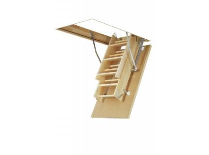 Деревянная чердачная лестница Fakro LWS Plus высота установки от 2,8м до 3,35м