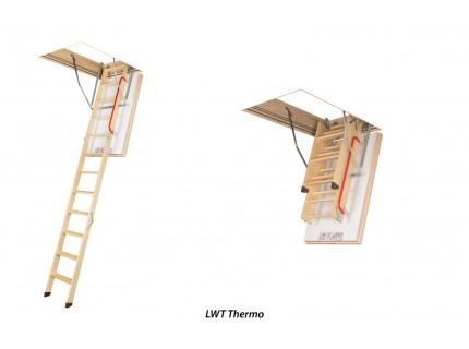 Деревянная чердачная суперэнергосберегающая лестница  Fakro LWT высота установки от 280см до 305см
