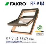 Окно FAKRO FTP-V U4 улучшенная  модель с 2-камерным стеклопакетом
