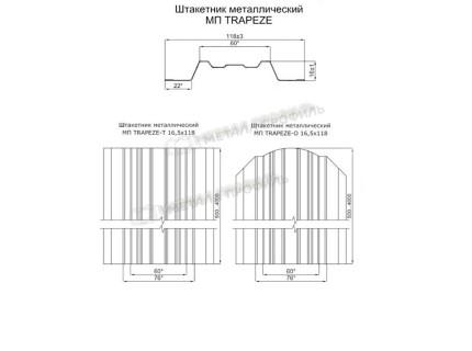 Штакетник металлический МП Trapeze