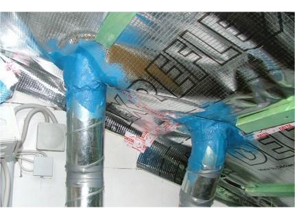 DELTA-LIQUIXX герметизирующая паста + армирующая лента для устройства воздухо- и паронепроницаемых примыканий пароизоляции к стенам, трубам, строительным элементам