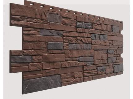 Фасадная панель Döcke STEIN Темный орех